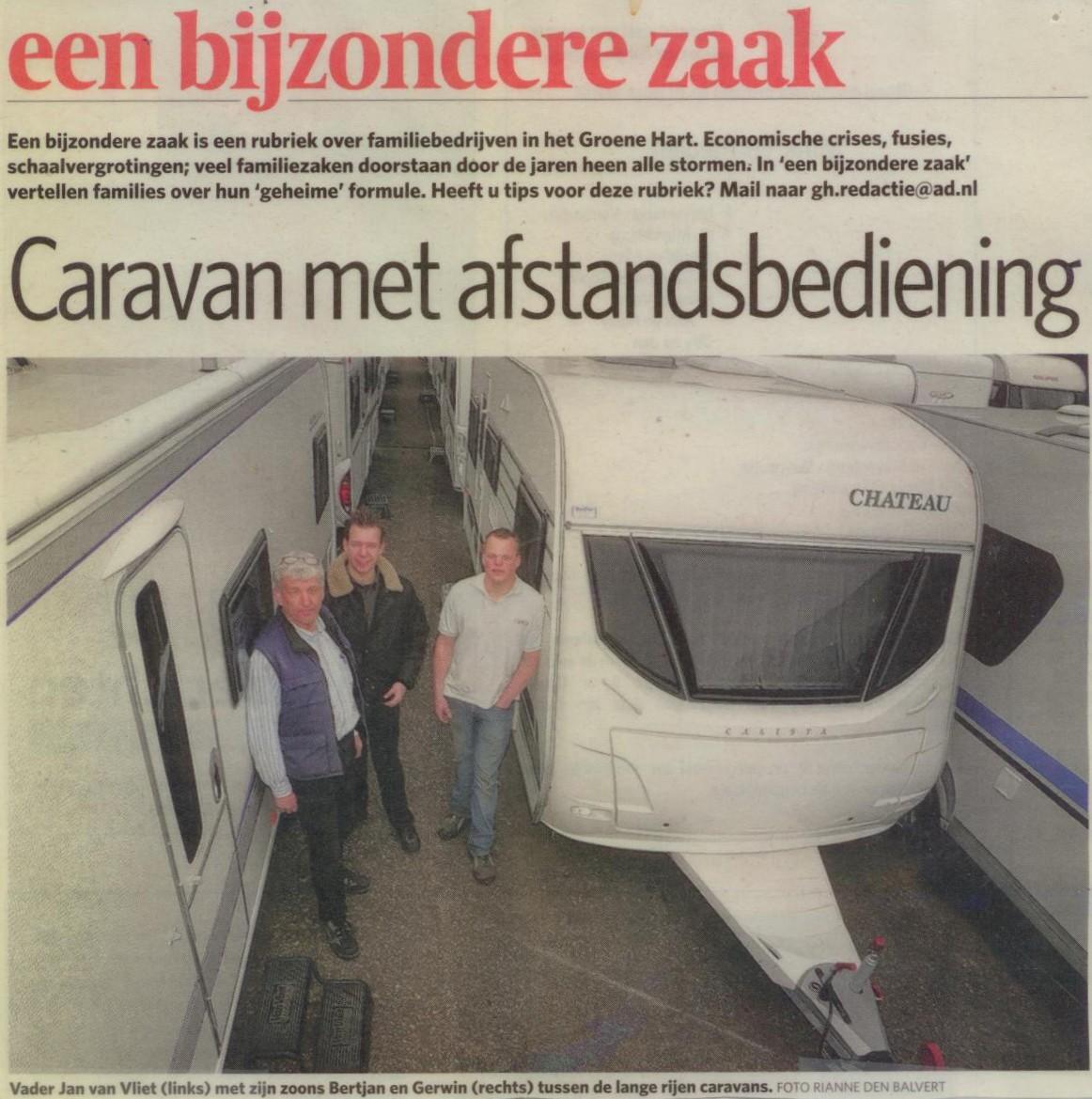 Jan, Bertjan en Gerwin van Vliet